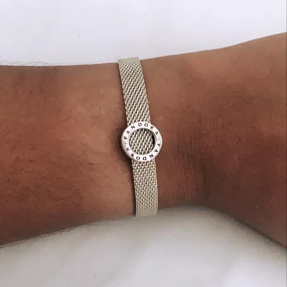 Pandora Reflexions- Mesh Bracelet with Charm